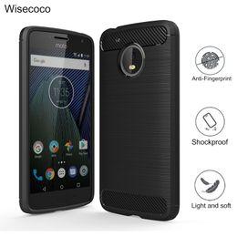 Wholesale E3 Tpu - Case For moto g4 g5 plus play g3 e3 m z play force g4plus g5plus Carbon Fiber Soft TPU Drawing Phone cover case