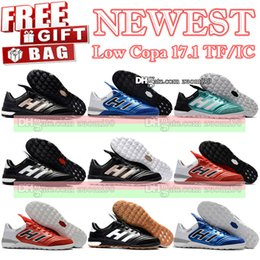Wholesale Soccer Shoe Copa Mundial - New Arrived Indoor Low Football Boots Copa Mundial Soccer Cleats Turf Copa Tango 17.1 IC TF Indoor Soccer Shoes Mens Soccer Boots