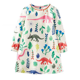 Wholesale Wholesale For Dress Lining - Princess Dress Long Sleeve 2017 Brand Spring Autumn Baby Girls Dress with Pocket Kids Tunic Jersey Dresses for Girls Clothes