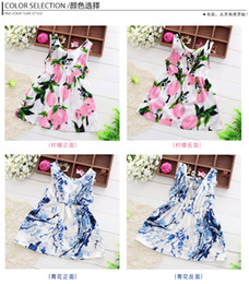 Wholesale Old Fashioned Baby Girl Dresses - Childrens wear girl dress 1-12 years old baby girl clothes summer Cool floral dresses Bohemian fashion chiffon beach dress for girls