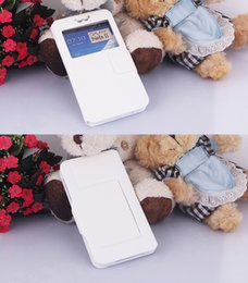 Wholesale Thin White Phone Brands - Ultra Thin Filp Case for iphone6 6+7 7+Samsung ZTE LG Window PU leather+Silicone Universal Phone Cases for 3.8-6.0 inch All Mobiles