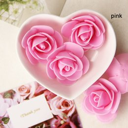 Wholesale Diy Artificial Mini Foam Flower - Wholesale- 30pcs Mini PE Foam Artificial Rose Flowers For Wedding Car Decoration DIY Wreath Decorative Valentine Day Fake Flowers