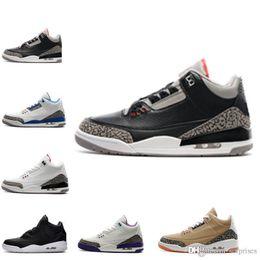 Wholesale Basket Fashion Men - Online shoes 3s basketball shoes Sports Replicas 2018 Original Men Man Sneakers Nai ke Fashion Shoe 3s Shoes Free Shipping