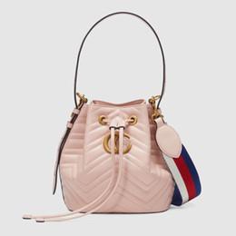 Wholesale Ladies Leather Drawstring Bag - Women Shoulder Bag Drawstring Bucket Bags Small Messenger Crossbody luxury handbags