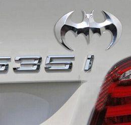 Wholesale Batman Metal Car Decal - 3D Cool Metal bat auto logo car styling car stickers metal batman badge emblem tail decal motorcycle car accessories automobiles