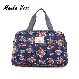 Wholesale Wholesale Tote Bag Luggage - Wholesale- Manka Vesa 2016 New Fashion Women's Travel Bags Luggage Handbag Floral Print Women Travel Tote Bags Large Capacity