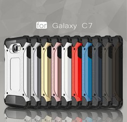 Wholesale Galaxy S3 Cover Slim Armor - Good Reputation Hybrid Hard Slim Armor Back Cover Coverage Cases For Samsung Galaxy C7 C7pro S3 S4 9300 9500 Phone Case