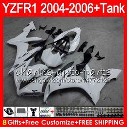 8Gift 23Colore corpo per YAMAHA YZF1000 YZFR1 04 05 06 YZF-R1000 bianco lucido 58HM8 YZF R 1 YZF 1000 YZF-R1 YZF R1 2004 2005 2006 Kit carenatura cheap yzf r1 body kit da kit corporeo yzf r1 fornitori