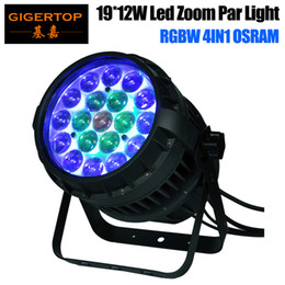 Wholesale High Powered Led Par - Freeshipping 19x12W RGBW 4IN1 Led Zoom Par Light 10-50 Degree Beam Adjustable Osram Lamp High Power Color Individual Control TP-P83
