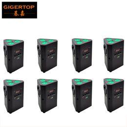 Wholesale Power Wedge - TIPTOP 8 Pack Fashional 3*10W Smart DJ Non Waterproof PAR Light  Smart DJ RGBAW 4IN1 Battery Powered LED Slim Dj Wedge Par Cans