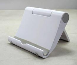 Wholesale Ipad Air Aluminium - Wholesale- Universtal Portable Plastic Tablet PC Stand Holder Rotate Support Bracket trestle For iPad 2 3 4 Air Mobile Phone 100pcs