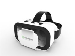 Wholesale Iphone Video Support - VR Box V Virtual Reality 3D Glasses VR Headset For 4.7-6 inch Iphone samsung smartphones Support Mobile phone 3D game Video