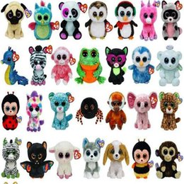 Cute Stuffed Animals Ty Beanie Boos Baby Soft Plush Stuffed Toys Wholesale  Big Eyes Animals Soft Dolls for Kids Birthday Gifts Cartoon 8608f1457952