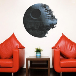 Wholesale Vintage Household Decoration - PVC Star Wars Death Star Wall Stickers for Kids Rooms Movie Decorative Wall Decals Art Master Poster Wallpaper Kids Baby Home Decoration