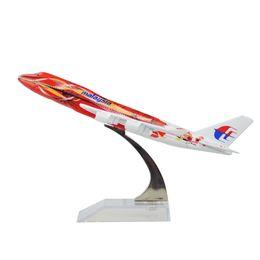 Canada Nouveau système de vente chaude MALAYSIA AIRLINES BERHAD B747 Le modèle Hibiscus 16cm modèle avion enfant cadeau d'anniversaire modèle avion jouets cadeau de Noël cheap airplane systems Offre