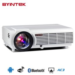 Wholesale Cheap Hd Projectors - 2017 Cheap Android OS wifi 1280x800 smart game BT96 bluetooth Video HDMI USB Full HD 1080P Home Theater LED Projector Proyector
