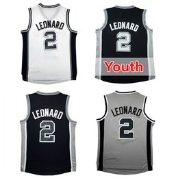 Wholesale Fast Cheap - 2 Kawhi Leonard Basketball Jerseys Kid's Youth 100% Stitche Men's Kawhi Leonard Jersey Cheap Sale Fast Free Shipping