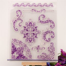 Wholesale Lace Rubber Stamp - Wholesale- figure flowers lace design Scrapbook DIY photo Album paper cards rubber stamp clear stamp transparent stamp YZ-211