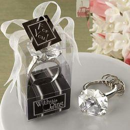 Wholesale Diamond Key Chain Crystal - Wholesale- 10 Pcs Fashion Faux Diamond Crystal Napkin Ring Key Chain Wedding Party Dinner Table Paper Towel Napkin Ring Holder White
