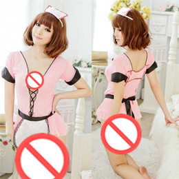 Wholesale Adult Skirts - Free shipping new roleplaying sexy lace aprons maid uniforms Contains Adult sexy lingerie skirt maid outfit COS real SM Sets