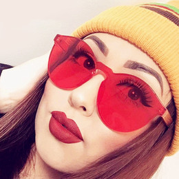 Wholesale Sun Candy - Fashion Women Sunglasses Cat Eye Shades Luxury Brand Designer Sun glasses Integrated Eyewear Candy Color UV400 A168