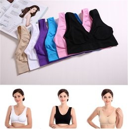 Wholesale Sexy Lady Water Color - New 3 colors sexy bras Hot Selling sport Bra Sizes Seamless Ladies Underwear Microfiber Pullover Bra Free Shipping BAB23
