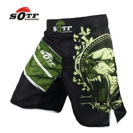 Wholesale Animal Boxers - Sotf Green Bear Breathable Cotton Boxer Shorts Mma Sports Training Thai Boxing Mma Fight Short Boxing Clothing Muay Thai Boxing Pants