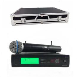 Wholesale Slx Wireless - Top Quality SLX SLX24 BETA58 with Aluminum Case Box !! UHF Wireless Microphone System Super Cardioid BETA Handheld Microfone Mic