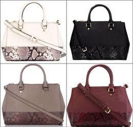 Wholesale Cheap Dress Bags - 2017 Classic Fashion handbag women Snakeskin pattern handbags single leather shoulder bags lady purse cheap bag #45