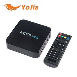 Wholesale Android Streaming Player - 20PCS Original Quad-Core H.264 H.265 Android TV BOX MXQ PRO Rockchip RK3229 TV Box Streaming Player