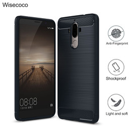 Wholesale Nova V8 - Case For huawei honor 8 v8 v9 note8 nova plus lite mate 8 9 Carbon Fiber Soft TPU Drawing Phone cover