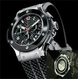 Wholesale Lover Movement - New automatic mechanical movement Deluxe multi-function luxury automatic men big bang wristwatch sweeping motion watches black rubber hu