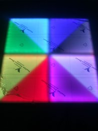 Wholesale Street Tiles - LED Floor Tile Red, Green And Blue Three-coloramp Beads Star Light Street Lights