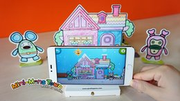 Wholesale Paper Towns - Wholesale Kid Children Monster town AR creative spell drawing board card