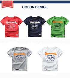 Wholesale Children Clothes Design For Boys - 2017 Summer Kids Boys T-shirt Washing Cotton Tee Top Letter Bike Design T shirt Children Clothing For 2T 3T 4T 5T 6T boy