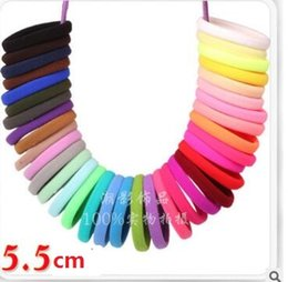 Wholesale Korea Hair Color - Korea with large high-elastic jointless fluorescent color towel hair rope shipping free
