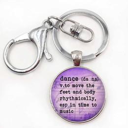 Wholesale Dance Key Chains - vintage Ballerina silhouette art men women keychain fashion Degas Dancers dance bag pendant key chain ring holder