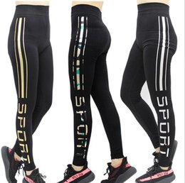 Wholesale Girls Leggings Working Out - Work Out Letter Leggings Sports Yoga Fitness Jeggings Running Skinny Tights Women Trousers Elastic Pants 8 Styles 10pcs OOA3329