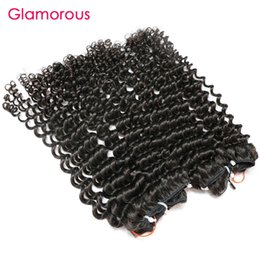 Wholesale Raw Indian Hair Curly - Glamorous Cambodian Virgin Hair 2 Bundles Raw Unprocessed Human Hair Weave Natural Color Brazilian Malaysian Indian Tight Curly Hair Weaves