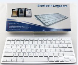 Wholesale Wholesale Os Windows Tablets - Universal Ultrathin Aluminum ABS Wireless Bluetooth Keyboard for iPad Android Tablet PC 78 Keys Desktop Computer Window Android OS