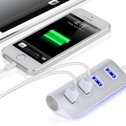 trasformatore asus pad Sconti 4 porte hub USB ad alta velocità di ricarica USB 2.0 argento Adattatore per smartphone PC portatile lega di magnesio alluminio
