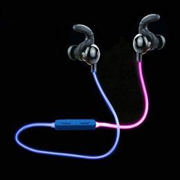 Wholesale Neon Headphones - Luminous Headphones Wireless Bluetoot Sport Earphone in Dark Glow bluetooth Earphone Headphone Luminous Neon Headset Flash With music ss-049