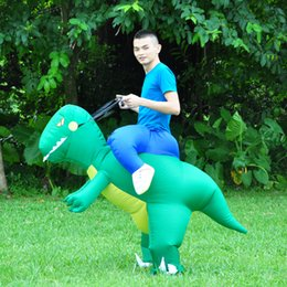 Wholesale Adult Dino Costume - inflatable dinosaur Purim Costumes Airblown Fan Operated T-Rex Inflatable Dinosaur Suit Outfit Costume for Kids and Adults Dino Rider