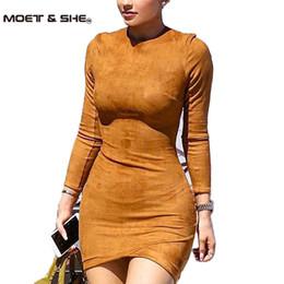 Toptan Satış - Toptan-Uzun Kollu İnce Parti Elbise Seksi Vestido Kadınlar Kış Elbiseler Kylie Jenner Cilt Sıkı Faux Süet Bodycon Elbise D63308R nereden