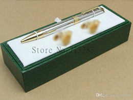 Wholesale Gift Pen Metal - Luxury High quality Unique design rx pen stationery supplies Ballpoint Pen , cufflink , gift green box sets