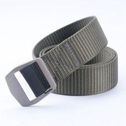 Wholesale Mens Military Canvas Belts - 120CM Marine Corps Tactical Belts Military Canvas Belt For Mens Buckle Belts Nylon Outdoor Sports Ceinture Jeans Casual Cintos