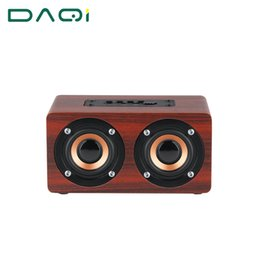 Wholesale Wood Box Speakers - Wholesale- Best Retro Wooden Bluetooth Speaker Wireless Speaker 3D Dual Loudspeakers Support TF Card Sound Box Audio Stereo Music Subwoofer