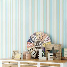 Wholesale Grey Paper Roll - Modern Strip Wallpaper for Walls 3 d Non Woven Vertical Stripes Wallpaper Blue Grey Living Room 3D Wallpaper Roll for Walls