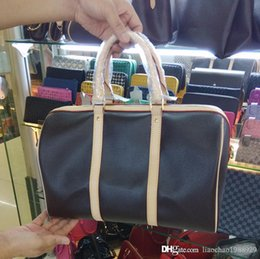 Wholesale Ladies Luggage Bags - TOP quality oxidize real leather travel Large Capacity Duffle Bag Luggage Shourder Bag Keepall 45 50 55 60 N41414 hot stamp BAG