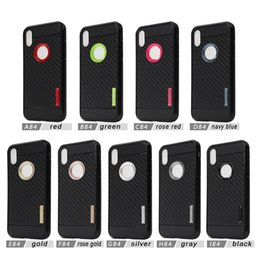 Wholesale Galaxy X Cover - Carber Fiber Cover Armor TPU Case For iphone X 7 8 PLUS for galaxy note 8 S8 plus J7 PRO J5 PRO